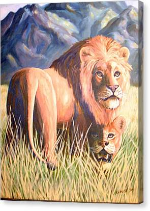 In Lions Time Canvas Print