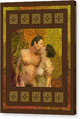 Couples Canvas Print - In Love by Kurt Van Wagner