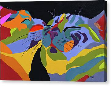 Feline Canvas Print - In Love by Patti Siehien