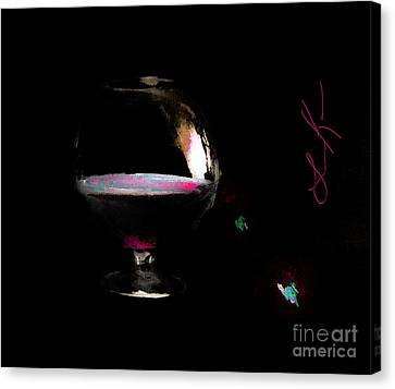 Wine Canvas Print - In Love With A Nightmare by Lisa Kaiser