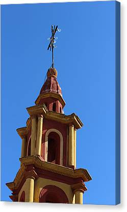 In Mexico Bell Tower Canvas Print by Cathy Anderson