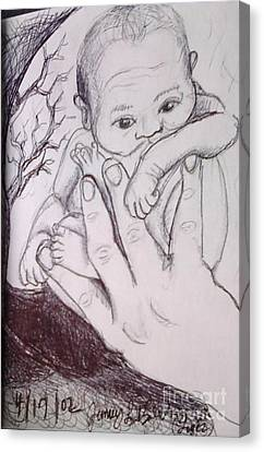 In My Father's Hand Canvas Print by Jamey Balester