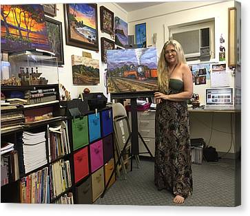 Canvas Print featuring the photograph In My Studio by Darice Machel McGuire