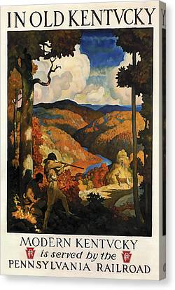 In Old Kentucky Vintage Travel 1930 Canvas Print