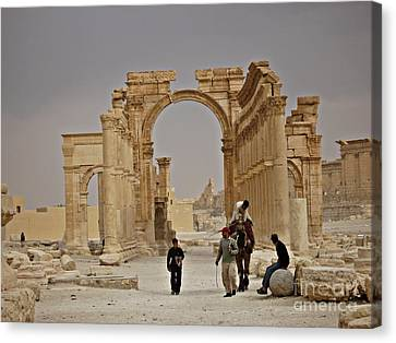 Canvas Print featuring the photograph In Old Palmyra by Cendrine Marrouat
