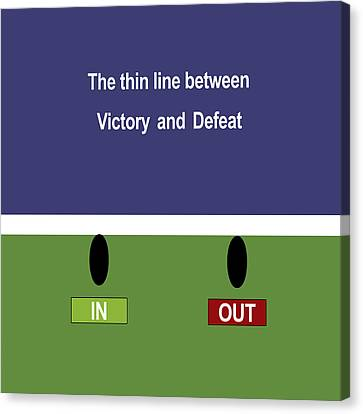In Out - The Thin Line Between Victory And Defeat Canvas Print by Carlos Vieira
