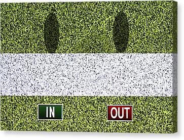 In Out - Wimbledon Canvas Print by Carlos Vieira