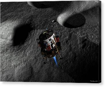 Canvas Print featuring the digital art In Preparation For Landing by David Robinson