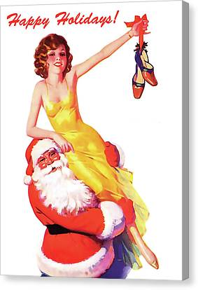 Canvas Print - In Santa's Arms by Long Shot