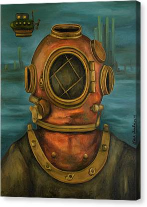In Search Of Atlantis Canvas Print by Leah Saulnier The Painting Maniac
