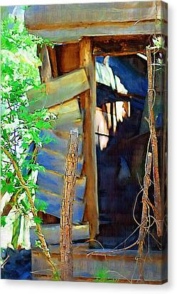 Canvas Print featuring the photograph In Shambles by Donna Bentley