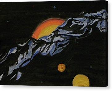 In Space Canvas Print by Carolyn Cable