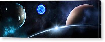 Star Trails Canvas Print - in Space by Svetlana Sewell