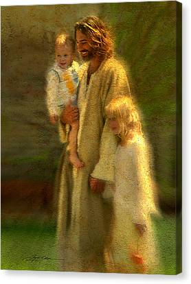 Blonde Canvas Print - In The Arms Of His Love by Greg Olsen