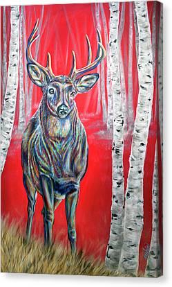 In The Aspens Canvas Print by Teshia Art