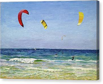 In The  Wind Canvas Print by Gregory Doroshenko