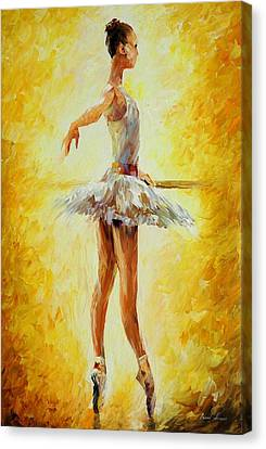 In The Ballet Class Canvas Print by Leonid Afremov