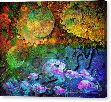 In The Beginning Canvas Print by Mimulux patricia no No