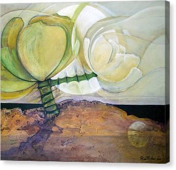 In The Beginning Canvas Print by Riek  Jonker