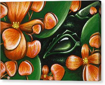 In The Begonias Canvas Print