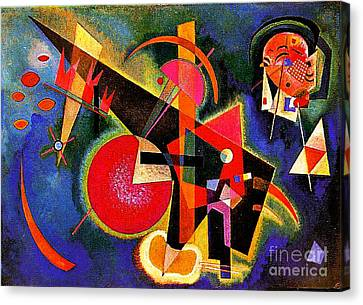 In The Blue Canvas Print by Kandinsky
