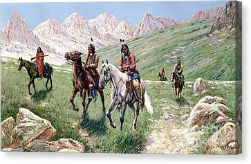 In The Cheyenne Country Canvas Print by John Hauser
