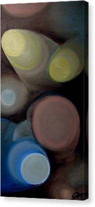 Canvas Print featuring the painting In The Circles Of The Light by Saad Hasnain