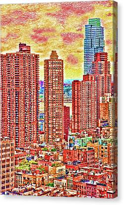 Canvas Print featuring the photograph In The City by Barbara Manis