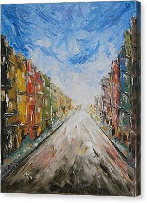 Abstact Landscapes Canvas Print - In The City by Maria Woithofer