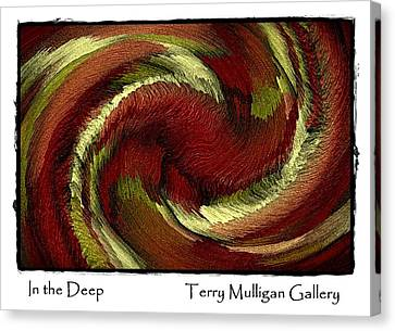 In The Deep Canvas Print by Terry Mulligan