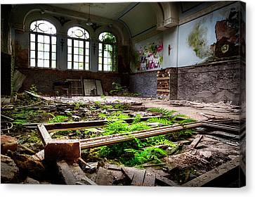In The End Nature Always Wins - Urbex Abandoned Building Canvas Print