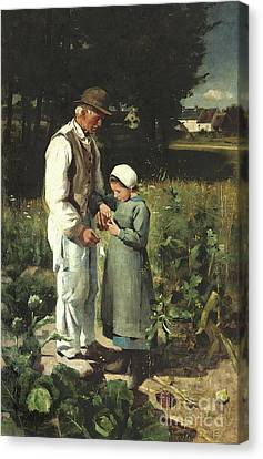 In The Fields, Anvers Sur Oise, 1882 Canvas Print