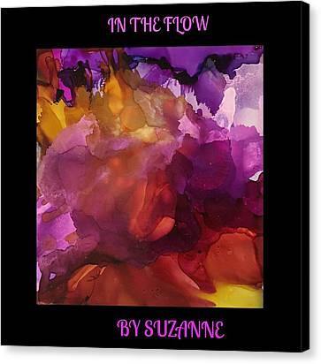 Canvas Print featuring the painting In The Flow by Suzanne Canner