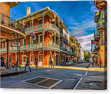 In The French Quarter - 2 Paint Canvas Print by Steve Harrington