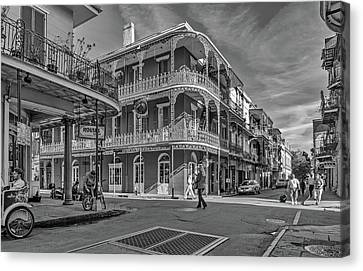 In The French Quarter - 3 Bw Canvas Print by Steve Harrington