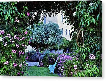 In The Garden At Mount Zion Hotel  Canvas Print by Lydia Holly