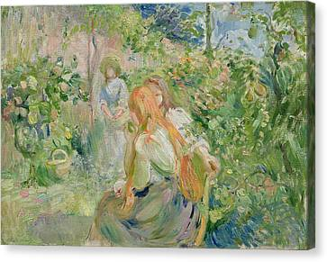 In The Garden At Roche Plate Canvas Print