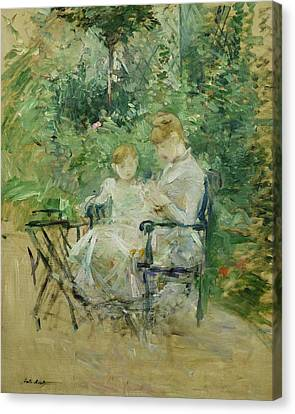 In The Garden Canvas Print by Berthe Morisot