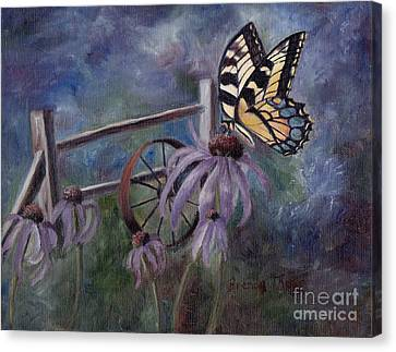 Canvas Print featuring the painting In The Garden by Brenda Thour