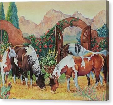 In The Garden Canvas Print by Eden Alvernaz