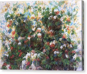 Canvas Print featuring the painting In The Garden by Laila Awad Jamaleldin