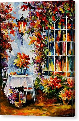 In The Garden Canvas Print by Leonid Afremov