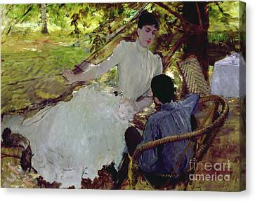 In The Hammock II, 1884 Canvas Print