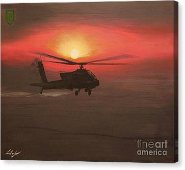 In The Heat Of Night Over Baghdad Canvas Print by Leo Amoling