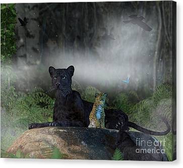 Panther Canvas Print - In The Jungle by Elle Arden Walby