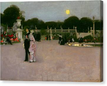 In The Luxembourg Gardens Canvas Print by John Singer Sargent