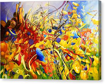 In The Meadow Canvas Print by Georg Douglas