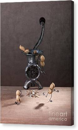Touching Canvas Print - In The Meat Grinder 01 by Nailia Schwarz