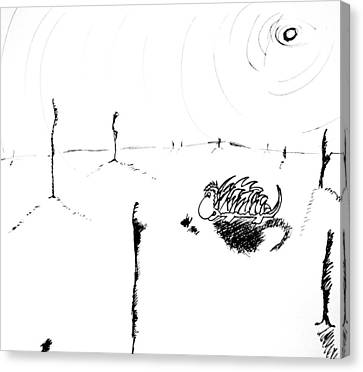 In The Middle Of Nowhere Canvas Print by Jera Sky