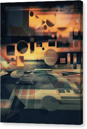 In The Mix Canvas Print by Another Dimension Art